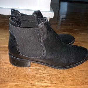 Topshop black booties